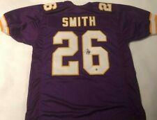 Robert Smith Autographed Minnesota Vikings Purple Jersey Robert Smith Hologram