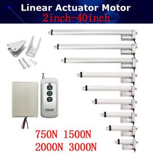 750N 1500N 3000N Electric Linear Actuator Cylinder Lift Stroke 50-1000mm DC12V