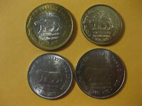 Bank of India Tiger coin set 4 coins all are UNC nice set 2010 nice animal set