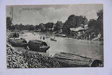 alte AK Bathing at Kalighat Indien Calcutta Kalkutta 1911