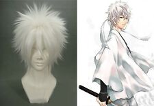 Lastest Hallowmas Party Gintama Cosplay Wigs Hair Man & Women White Wig +Wig Cap