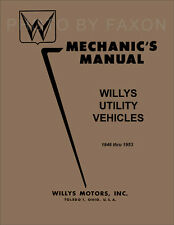 Jeepster Shop Manual 1948 1949 1950 1951 1952 1953 Willys Repair Mechanics Book