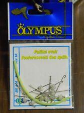 1 Confezione 10 pallini ovali fosforescenti con spillo OLYMPUS Mis. M mf at11