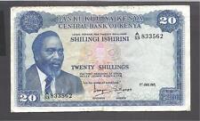 Kenya Banknote P8b 20 Shillings 1.7.1971 prefix A//49 VF-EF