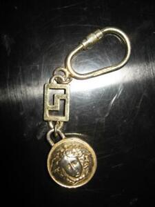 VINTAGE 90s GIANNI VERSACE MEDUSA MEDALLION GREEK KEY CHAIN RING