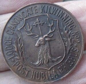 A MASONIC SCOTTISH PENNY TOKEN SESSION 1934. 35 CANONGATE KILWINNING LODGE No 2