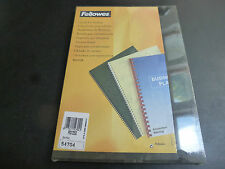 50 x A4 Binding Covers FELLOWES 250gsm Card Boards Black leather look 54704