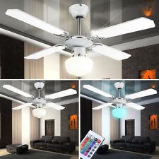 LED Decken Ventilator Lüfter RGB Fernbedienung Leuchte dimmbar Küche Büro Flur