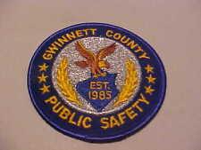 GWINNETT COUNTY GEORGIA PUBLIC SAFETY  POLICE PATCH  SHOULDER SIZE