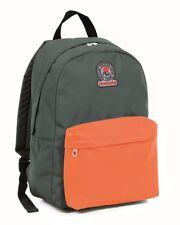 Zaino INVICTA - LOGO Bicolor- Roundast - 25 LT - Verde Arancione - scuola tempo