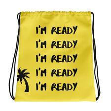 Cool Drawstring Bag Funny Spongebob I'm Ready Back To School book Backpack Bag