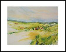 E. Hofmann Idyllisches Dorf I Poster Kunstdruck mit Alu Rahmen schwarz 40x50cm