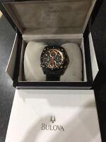 Bulova 98b182 Men's Rose Gold Precisionist Chronograph Rare Watch