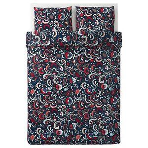 KRATTEN Quilt cover & pillowcase,dark grey multicolour,200x200/ 2x50x80 cm IKEA