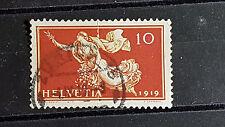 Suiza Michel-nº 147, 10c tratado de paz, con sello de pequeño error/knick