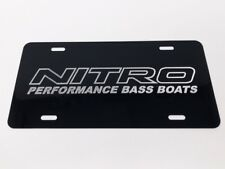 Nitro Boats LOGO Car Tag Diamond Etched on Aluminum License Plate
