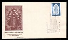 ARGENTINA 1960 FIRST DAY COVER, FIRST INTER-AMERICAN MARIANO CONGRESS !!