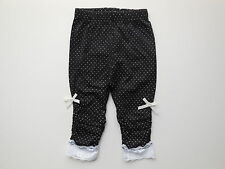 NEW Mothercare baby girl black w white spots leggings size 0000 Newborn 4.5kg