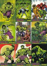 THE INCREDIBLE HULK 2003 TOPPS BASE CARD SET OF 72 MARVEL
