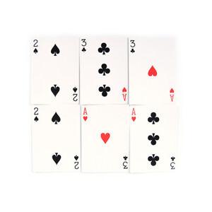 2 set Magic 3 Three Card Trick Card Easy Classic Magic playing cards for fun BNI
