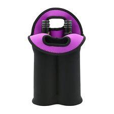 Hipiwe Wine Carrier Tote Bag Two Bottle Insulated Neoprene Wine/Water Bottle for
