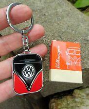 German Volkswagen Classic VW Bus SAMBA Transporter T1 Camper Keychain Black/Red