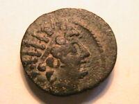 121-96 BC Seleucid Choice VF Antiochus VIII Bronze Superb Syrian Tone Ae 24 Coin