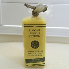 New ERBARIO Toscano LEMON Vegetable Soap/Bath Bar Savon 5x 1oz Made in Italy