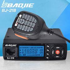 USA Stock Mini Mobile Car Radio BJ-218 25W Output Power VHF/UHF136-174/400-470MH
