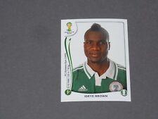 485 IDEYE BROWN DYNAMO KIEV NIGERIA PANINI FOOTBALL FIFA WORLD CUP 2014 BRASIL