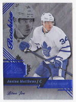 16-17 Fleer Showcase Auston Matthews /199 Rookie BLUE ICE Maple Leafs 2016