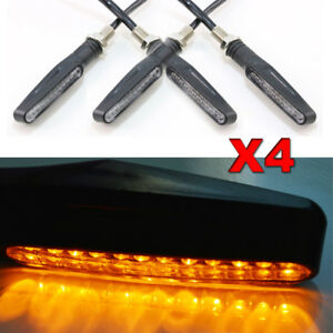 4x Pencil edge Motorcycle LED Turn Signal Lights for Ducati Panigale V4S Monster