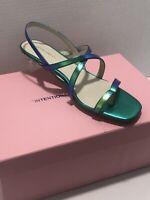 NIB Intentionally Blank Hologram Gal Sandal Clear Block Heel Sz 8,  MSRP $189