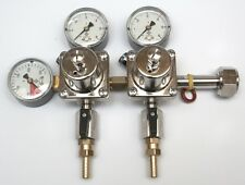 Dual regulator co2 ball lock disconnect cornelius/corny keg Shutoff Valve barb