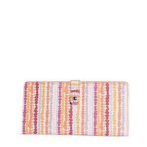 "Vera Bradley Slim Travel Organizer Beautiful Sold Out Pattern ""Confetti Stripe"""