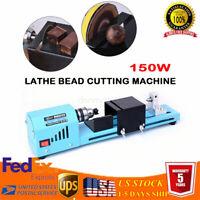 DIY 150W Miniature lathe Beading 12-24V Mini Lathe Beads Polisher Woodworking US