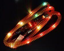 "BROWN LED Colors Washable 72"" Clear Hookah Shisha Soft Plastic Hose"
