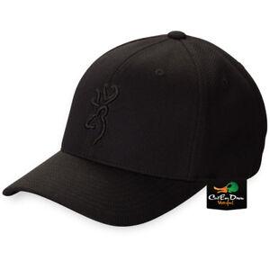 NEW BROWNING CORONADO PIQUE BALL CAP FLEX FIT HAT BUCKMARK LOGO BLACK