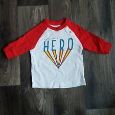 NEXT Super Hero Red And White Boys Top 0-3 Months