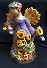 Blue Sky Clayworks Heather Goldminc Summer Angel Tea Light Candle Holder