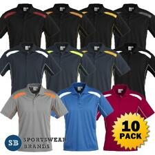 New listing 10 x Mens Polo Shirt Top Sports Uniform Work Business Contrast Casual New P244MS