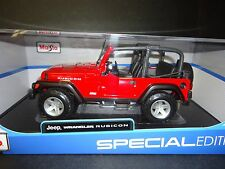 Maisto Jeep Wrangler Rubicon Red 1/18