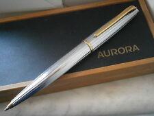 AURORA STYLE PENNA A SFERA IN ACCIAIO CROMATO + SCATOLA Ball Pen in steel + box