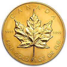 1987 Canada 1 oz Gold Maple Leaf BU - SKU #81249