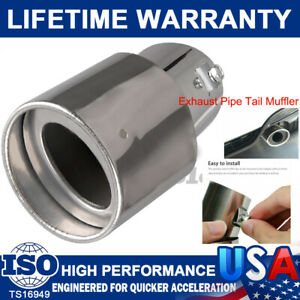 """Universal Chrome Car Stainless Steel Rear Exhaust Pipe Tail Muffler Tip 1.5-2.2"""""""