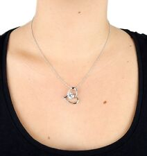 Necklace Silver Heart by Ella Jonte Short with Amulet Love