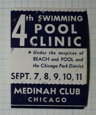 Pool Clinic Medinah Club Chicago Company Brand Ad Poster Stamp
