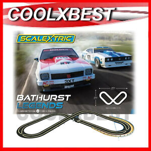 NEW SCALEXTRIC 1:32 BATHURST LEGENDS SLOT CAR SET FORD v HOLDEN BROCK MOFFAT