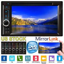 Car Stereo Radio 6.2inch 2Din Head Unit Player Bluetooth/FM/MP3/USB/SD/AUX/DVD