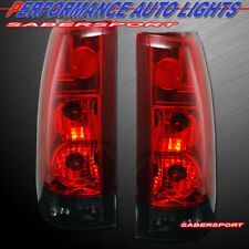 Set of Red Smoke G5 Taillights for 88-99 GM C/K 1500 2500 3500 Yukon Suburban